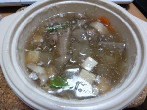 料亭金鍋 伊万里牛と根野菜のスープ
