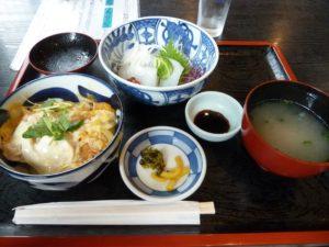 鏡山温泉茶屋 美人の湯 イカ刺し カツ丼