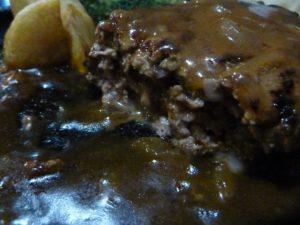 柊 バンバーグステーキ ミディアムレア