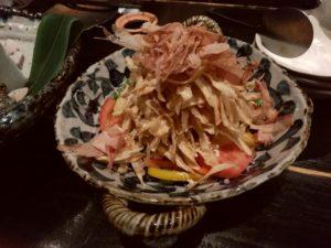 魚店亜紗 ごぼう天サラダ