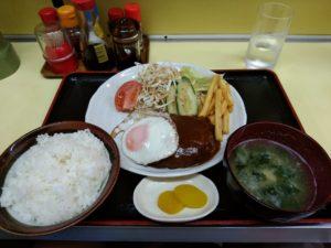 赤ちゃん食堂 ハンバーグ定食650円