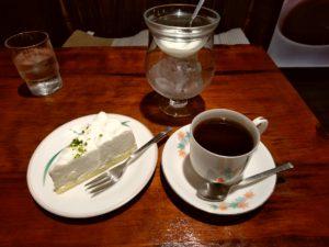 下関 おがわコーヒー ケーキセット