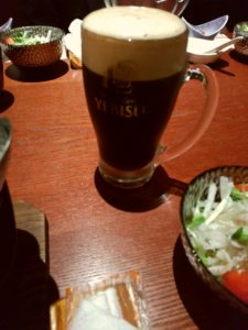 大名つつじ庵 エビス黒ビール