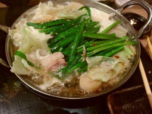 もつ鍋おおやま 博多1番街 水炊き風もつ鍋
