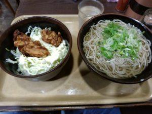 そば酒場雅隆製麺 唐揚げ丼セット