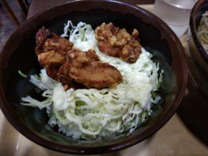 そば酒場雅隆製麺 唐揚げ丼