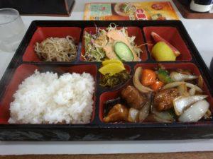 千早 名島 みち 酢豚定食