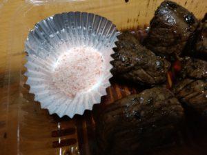 博多リバレイン夏祭り 仁伊島総本店 サイコロステーキ 岩塩