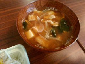 豆の樹 富士山駅 味噌汁