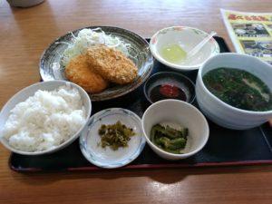 大川昇開橋温泉 コロッケ定食