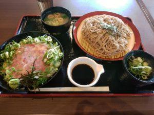 新宮温泉 ふくの湯 ネギトロ丼二八そばセット