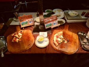 西鉄グランドホテル『北海道&かにフェア』 ピザ