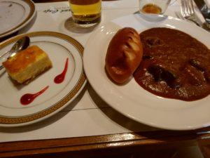 西鉄グランドホテル『北海道&かにフェア』 カレー チーズケーキ