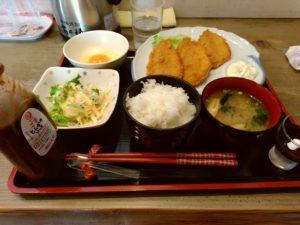 よっちゃん 古門戸 アジフライ定食