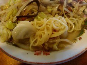 戸畑 たつみ食堂 ちゃんぽん 麺