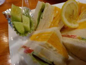 珈琲茶論 サンドウィッチ メロン