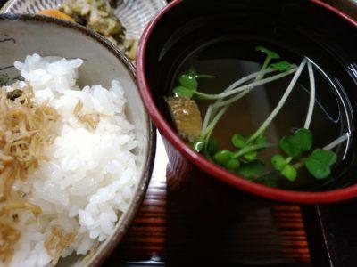 京や 東峰村 ご飯と汁物