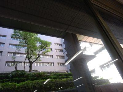福岡県警察本部 食堂 吹き抜け