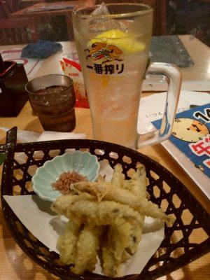 まるとく食堂 きびなご天ぷら
