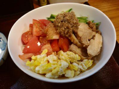 門司 花千里 肉味噌野菜冷麺卵入り