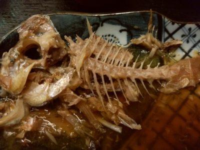 はかた伊達 鯛の煮付け食べ終わり