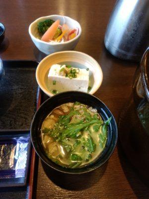長湯温泉かじか庵 朝食 味噌汁 豆腐