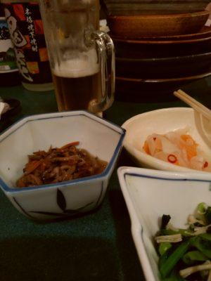 サンセルコ ななつの鐘 ビールと小鉢