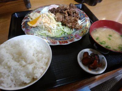 ふるさと 奈良屋 牛生姜焼き定食