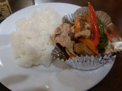 サンセルコ Cafe BAMP 豚肉の炒めもの