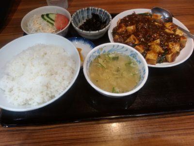 節ちゃんラーメン 赤のれん 麻婆豆腐定食