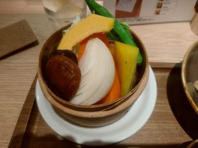 みのりカフェアミュプラザ博多店 蒸し野菜