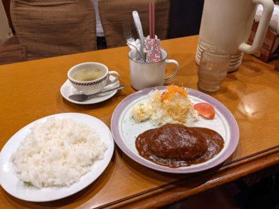 カド 門司 喫茶店 ハンバーグセット780円